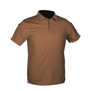 Poloshirt Dark Coyote Gr.M Tactical Quick Dry