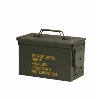 US Munitionskiste Metall Mittel Cal.50 Gebr.
