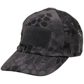 Cap Einsatz mit Klett Snake Black