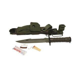 Fahrtenmesser Bajonett US M9 mit Scheide für M16 Repro