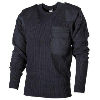 BW Pullover mit Brusttasche Schwarz 60