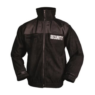 Security Fleecejacke Schwarz Mil-Tec (XXL)