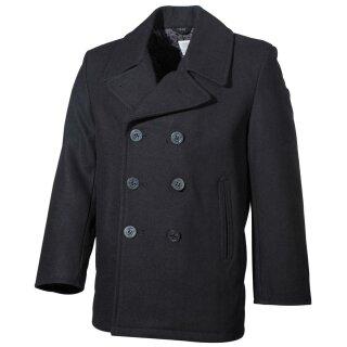 Jacke US Pea Coat mit schwarzen Knöpfen (Schwarz,XS)