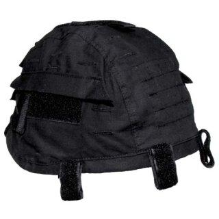 Helmbezug mit Taschen, größenverstellbar (schwarz)