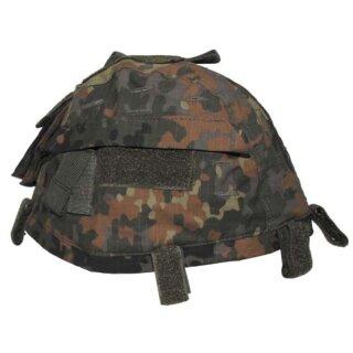 Helmbezug mit Taschen Größenverstellbar (Flecktarn)