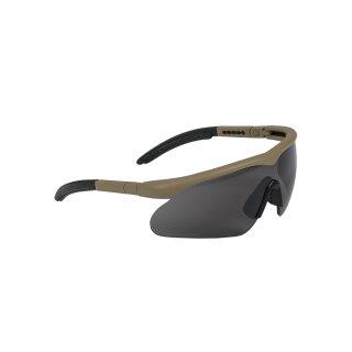 Schutzbrille Swiss Eye Raptor Coyote Lens Smoke
