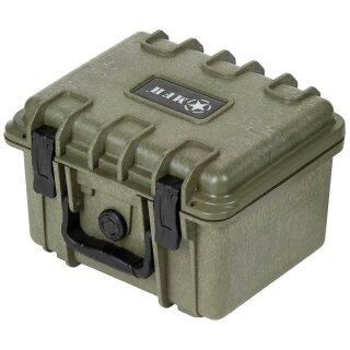 Box Kunststoff Wasserdicht Oliv Tragegriff 26,7x23,9x18cm