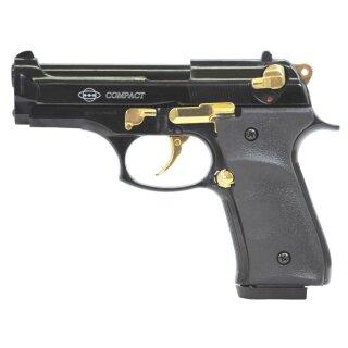 Pistole Firat Compact Schwarz Gold 9mmPAK ab18