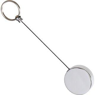 Schlüsselhalter Jojo mit Rücklaufspule und Clip Schwarz-Silber